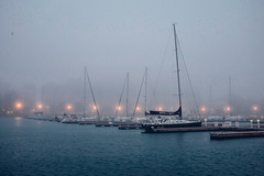 Mood (christine.gleason) Tags: belmont harbor chicago lake mist fall summer mood moody light fog fujifilm xt10 urban exploration