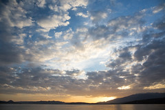 Sunset (Laveyronet) Tags: corse landscape ciel paysage water english condition blue eau montagne cloud nuage plage sky couchdesoleil porto sunset sea mer calarossa france
