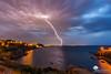 Le coup de foudre ! (photosenvrac) Tags: mer collioure paysage orage méditerranée tonnerre foudre thierryduchamp