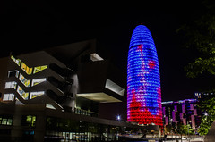 Torre Agbar (Aguas de Barcelona) - Barcelona (gasendi) Tags: barcelona espaa tower canon spain torre jean nocturnas aguas catalua nouvel agbar eos450d gasendi