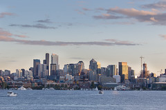 Seattle from the gasworks (mfeingol) Tags: seattle sunset skyline evening gasworks cityline seattleflickrmeetup stroll1509