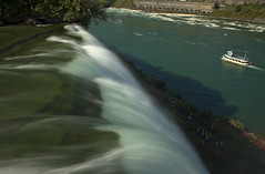 View From the Top of Niagara Falls (Stephen P. Johnson) Tags: new york newyork river niagarafalls boat veil landmarks places niagara falls american waterfalls bridal maidofthemist 201509110024