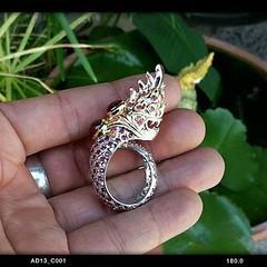 แหวนพญานาคเนื้อเงิน ฝังทับทิมทั้งวงน้ำหนัก 7 กะรัต  สนใจติดต่อสอบถาม LINE ID : ninetyJewel  #เครื่องประดับ #พญานาค #เพชรพญานาค #แหวน #กำไล #จี้ #เงิน #เครื่องเงิน #jewelry #ring #เพชร #ทอง #925 #gold #silver #ลงยา