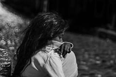 Homeless girl (KrystianKleina) Tags: poverty blackandwhite bw girl monochrome fix bokeh mostar bosnia homeless want herzegovina need quandary necessity pauper hardship indigence homelessgirl bonia harcegowina