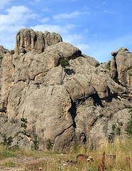 Rock Formations along Needles Highway - Custer State Park in Black Hills Region of South Dakota (danjdavis) Tags: southdakota blackhills needles custerstatepark needleshighway geologicalformations southdakotastatepark rockformatons