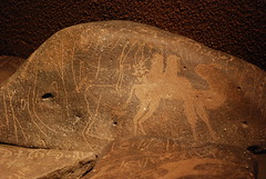 Jordan Museum - Amman - Safaitics and Thamuds - Inscriptions of the Nomads (jrozwado) Tags: museum asia amman jordan camel petroglyph متحف الأردنّ عمّان thamud safaitic