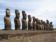 Easter Island, Ahu Tongariki, Chile