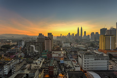 Long Time Ago (Mohamad Zaidi Photography) Tags: nature composition sunrise landscape golden timelapse cityscape explore malaysia kualalumpur hdr klcc twintower magiclantern concretejungle 7exp gmplaza canon6d canonmalaysia mohamadzaidiphotography leasingline