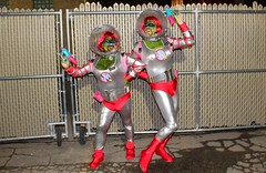 Planet Booby! BoobyBall 2015 (beenbair) Tags: green silver paint winnipeg body space bubbles aliens retro met spandex tanks helmets spacesuits 2015 boobyball planetbooby metropolitanconferencecentre