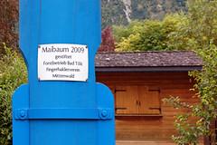 Mittenwald - Ortsmitte (50) - Maibaum (Pixelteufel) Tags: mittenwald bayern bavaria alpen urlaub ferien freizeit erholung tourismus maibaum park parkanlage fest festtag feier inschrift ortsmitte ortskern