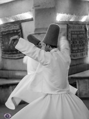 Whirling dervish sufis (alison ryde - back in town for now) Tags: blue autumn music turkey dance asia poetry dancing turkiye september sufi sufism ottomans phototrip capadoccia dervishes turchia whirlingdervishes turkei mystics 2015 emilywilson asianturkey devotionalmusic johngreengo olympusem1
