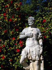 When The Garden Speaks... (J Swanstrom (Check out my albums)) Tags: rome statue garden concrete bush kodak carving marble dx7590 jswanstromphotography