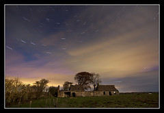 The Clouds Came In (K-Burn) Tags: cloud building abandoned field fife westpark startrails peatinn