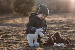 Little Horseman & his Horses (Jagoda 1410) Tags: light childhood child play outdoor naturallight horseman littlecowboy afuntime