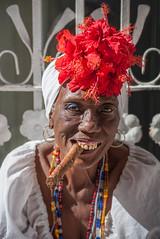 Cuban Cigar (laskaproject) Tags: life street old city november flowers red sea portrait people urban woman texture architecture buildings havana cuba cigar communist age caribbean cuban habana wrinkles