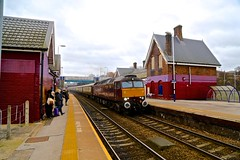 57601 Woodhouse Station 05 Dec 15 (doughnut14) Tags: manchester diesel sheffield loco special passenger woodhouse gc southyorkshire skegness greatcentral 57601 wcrc 1z65