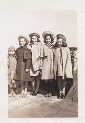 New coats in the Bronx, 1939-40 (Robert Barone) Tags: clara newyorkcity blackandwhite newyork rooftop vintage joey bronx joe 1940s pasquale thebronx vinnie vilma italianamerican fotodepoca franie disisto italoamericani