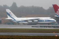 Volga Dnepr AN-124 RA-82042 (Thomas Theisen) Tags: rain airport russia aircraft aviation luxembourg volga dnepr freighter antonov an124 ellx findel