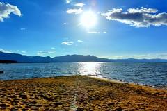 Tahoe Almost Sunset (--joe Lach) Tags: california sunset lake beach water clouds sand laketahoe alpine almostsunset sierranevada southlaketahoe inyonationalforest waterpictorial joelach