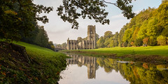 Fountains Abbey (S.R.Murphy) Tags: fountainsabbey landscape october2016 studleygardens urbanlandscape fujifilmx100t nature autumn gardens water outdoor reflection watercourse river ngc riverskell