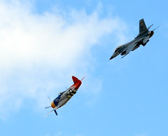 P-47 and F-16 Viper (The Old Texan) Tags: airplane airshow p47 f16 viper texas waco flying d7100 nikon