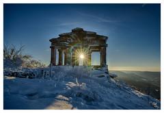 Le temple du Donon (satourneStras) Tags: temple donon alsase vosges montagne soleil sun montains ice