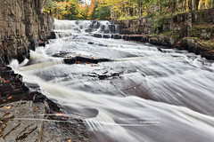 Quartzite Falls in Autumn - Upper Peninsula of Michigan (Craig - S) Tags: arvon autumn lanse michigan quartzitefalls slateriver beauty canyon cedars creek flowing forest gorge nature outdoors quarry river rock rugged slate stream tourism travel upperpeninsula waterfall wilderness woods