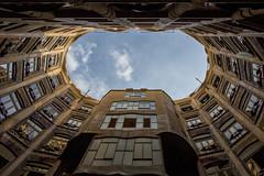 La Pedrera air shaft (cango_uk) Tags: lapedrera barcelona spain catalonia gaudi casamil