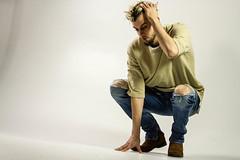 IMG_0945 (sabrinafvholder) Tags: man male hat hipster studio portrait young givenchy sabrinavazholder