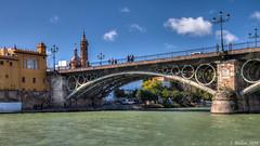 [0041] Sevilla: Puente de Triana. (Pepe Balsas) Tags: puente en arco de acero