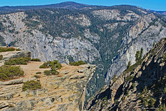A View from Taft Point  (Explored) (Wonder Woman !) Tags: taftpoint yosemite hike sierranevada california usa fissures
