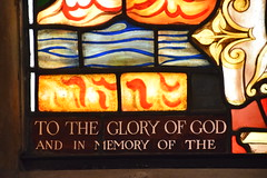 DSC_5438 John Wesleys Methodist Chapel City Road London Stained Glass Window To the Glory of God and in Memory of the Rev. George H McNeal MA Minister of this Chapel 1904 - 1934 (1896 - 1934) (photographer695) Tags: john wesleys methodist chapel city road london stained glass window to glory god memory rev george h mcneal ma minister this 1904 1934 1896