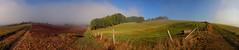 Catching Fog (Sam ) Tags: sam panorama landschaft landscape eifel kaschenbach alsdorf niederweis germany deutscland nebel fog herbst felder wald wiese umzunung acker autumn 80d canon