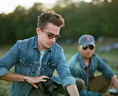 Eastbound Throwdown (Nick Spadaro) Tags: medium format film photo pentax 67 portrait ektar kodak sun light landscape music festival denim