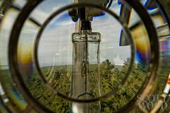 Through The Fresnel Lens (ScottWoodPhotos) Tags: lighthouse navigation washington historic graysharbor forest landmark fresnel sky lens ocean westport pacific clouds unitedstates us