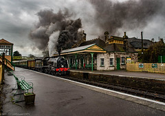 Full Steam Ahead (Alastair J Lofthouse LRPS) Tags: swanagerailway november railway 2016 swanage trains timelineevents timeline events