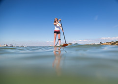 Family Stand Up Paddleboarding on the Isle of Wight - IMG_0807 (s0ulsurfing) Tags: s0ulsurfing 2016 august isle wight sup paddleboard paddleboarding colwell standup paddling paddle board family fun leisure activity staycation coastline seaside travel tourism sea blue clear sky reflections sunshine