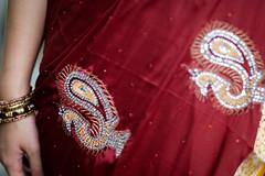 DSCF9368 (tzeyangtan) Tags: deepavali indian traditional red gold details smiles