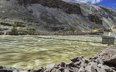 Bridge over troubled water (Fil.ippo) Tags: bridge indus tibetan india ladakh water longexposure filippo filippobianchi d610 travel long exposure landscape waterscape