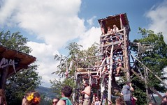 The tower (Stephanie Overton) Tags: bulgaria festival meadows mountains 2016 mountain tree green outside adventure view beautiful scenery hippy mumma wilderness party music 35mm pentax p30 tower art made skill