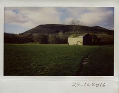 25th November 2016 (ronet) Tags: fuji thursdaywalk barn edale field instantfilm instax200wide kinderscout pasture peakdistrict utata utata:project=tw553