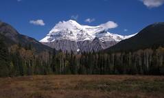 Mount Robson (Larry Myhre) Tags: mountrobson mountain scenic provincialpark britishcolumbia canada rockymountains canadianrockies bcalbertasept2016