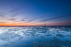 Alone (Harold van den Berge) Tags: blauweuur bluehour canon1635lf4 clouds haroldvandenberge hellegat landscape landschap leefilter lucht netherlands outdoor palen rocks sky slikken sunset water westerschelde wolken zeekust zeeland zeeuwsvlaanderen zonsondergang