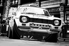 Mark Bentley/Ed Bentley - Ford Escort Mk1 (MPH94) Tags: wrc world rally championship chester wrgb great britain cheshire motorsport motor sport auto car cars photography north west canon 500d wales black white monochrome mark bentley ed ford escort mk1 parade rallying