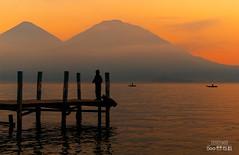 WAINTING (denisfm89) Tags: volcano atitln solol guatemala elmaizgt sunset atardecer nature earth world dock muelle lake lago