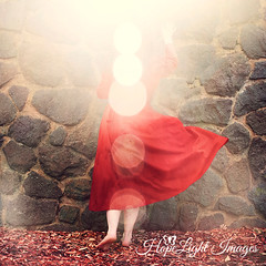 Finding Light (hopelightimages) Tags: light hope peace calm adventure trust walls rockwall sun sunlight fall autumn home safety conceptual conceptualphotography girl woman red love