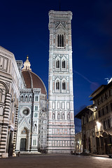 Giotto's Campanile, Florence Italy (Mikey Down Under) Tags: florence italy tuscany night early morning dawn lights giottos campanile il duomo city centre