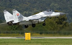 "MiG-29AS ""Fulcrum taking off in Sliac (LZSL) (stecker.rene) Tags: slovakairforce lzsl sliac mig29 mig29as fulcrum takeoff to departure runway rwy low 3911 fighterjet aphid siaf siaf16 siaf2016 aerodrome airshow airport airforce airbase aerialdisplay flyingdisplay military jet interceptor aircraft mig slovakia slovak nato canon eos7d tamron 150600mm flying aa8 wympel r60"