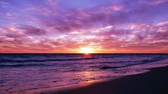 The Cold Sunset (PhotonenBlende) Tags: australia westernaustralia australien westaustralie indianocean indischerozean ocean water wasser saltwater salzwasser sray gischt waves wellen sunset sonnenuntergang sky himmel horizon horizont reflection relexion cold kalt landscape landschaft skyscape purple silence fineart kunst nikon d50 tamronsp highcontrast againstthelight outdoor