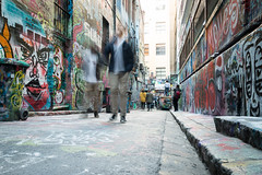Walking (thenorthernmonkey77) Tags: hosierlane melbourne australia oz downunder victoria graffiti streetart streetphotography street lane alley laneways art spraycan paint artist canon 70d 1770mm sigma people
